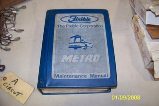 Flxible metro bus service manuals