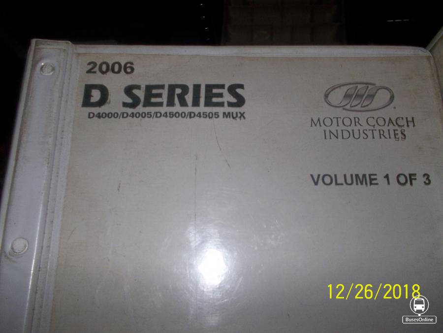 MCI D4500 Parts Manual Volume 1