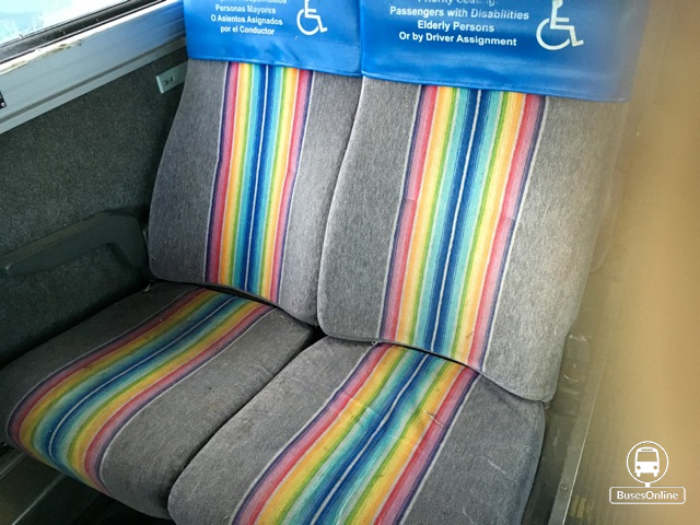 47 seats to fit MC-12, rainbow stripe, good condition